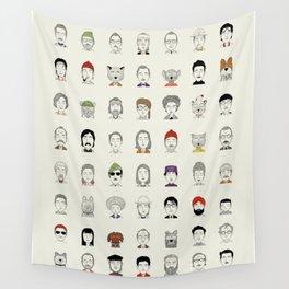 Random People Wall Tapestry