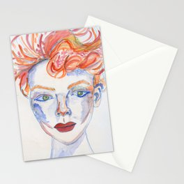 Wild-Hair Lady No.1: #FemaleEmpowerment #Watercolors Stationery Cards
