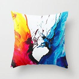 Abstract Art Britto - QB292 Art Print Throw Pillow