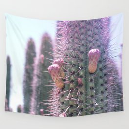 Prickly in Pink II Wall Tapestry
