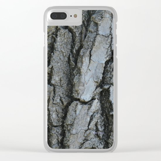TEXTURES -- Fremont Cottonwood Bark Clear iPhone Case