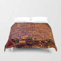 washington Duvet Covers featuring Washington orange by Larsson Stevensem