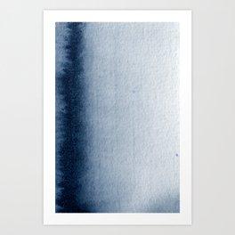 Indigo Vertical Blur Abstract Art Print