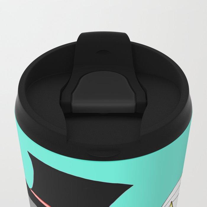 Penguin Married Love Turquoise Metal Travel Mug