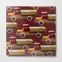 Vintage wooden toy truck #decor #society6 #buyart Metal Print