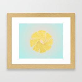 Lemon Twist Framed Art Print