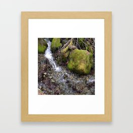 Rushing waters... Framed Art Print
