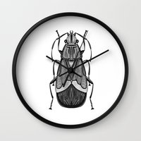 bug Wall Clocks featuring Bug by pereverzeva