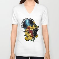 cowboy bebop V-neck T-shirts featuring Cowboy Bebop Swordfish II by Carrie South