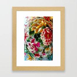 Chintz Egg Framed Art Print