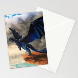Toothless, Dragons, Flying Stationery Cards