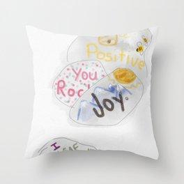 Affirmations Rock Throw Pillow