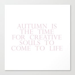 time for creative souls Canvas Print