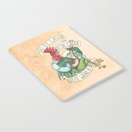 Alan-A-Dale Rooster : OO-De-Lally Golly What A Day Tattoo Watercolor Painting Notebook