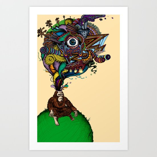 BigFoot & the Electrogasms Art Print