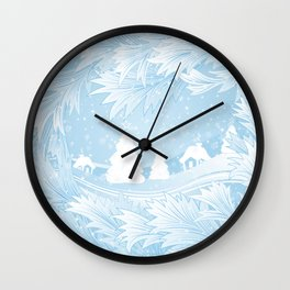 Winter background Wall Clock