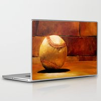baseball Laptop & iPad Skins featuring Baseball by Michelle Sauer