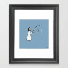 Jesus Fish Framed Art Print