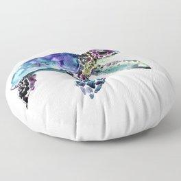 Sea Turtle, Baby Turtle animal artwork for children Floor Pillow