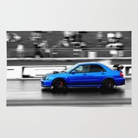 subaru Area & Throw Rugs featuring Subaru Racer by VHS Photography