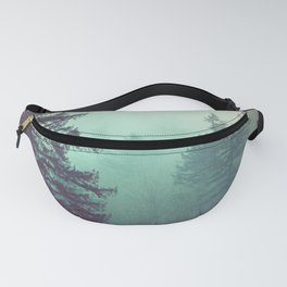 Forest Fog Fir Trees Fanny Pack