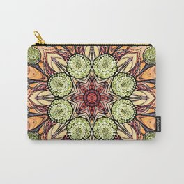 abstract red star hand drawn and kaleidoscope mandala Carry-All Pouch