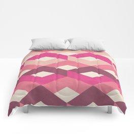 Pink Fancy Pattern Comforters