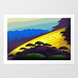 Sunny Slope Art Print