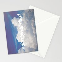 Dare to feel thrilled Stationery Cards