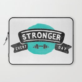 Stronger Every Day (dumbbell) Laptop Sleeve