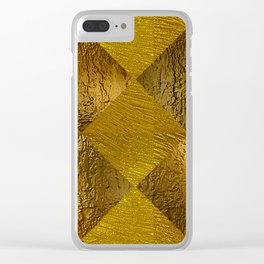 Gold Texture Clear iPhone Case