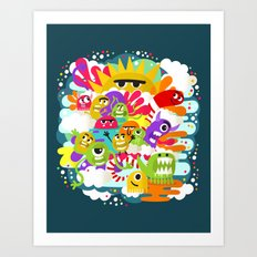 Monster Sunshine Friends Art Print