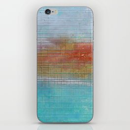 Enchanted Waters mixed media abstract seascape iPhone Skin