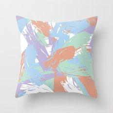 Pastel Paint Throw Pillow