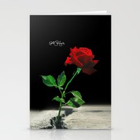 2pac Stationery Cards featuring The Rose that Grew from the Concrete by PeterPerlegas Fine Art