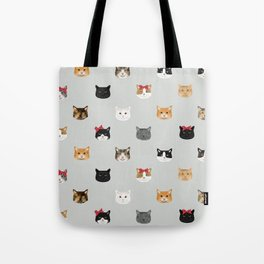 Cat heads cute pet gifts cat lover cat person must haves cat breeds Tote Bag
