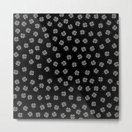 Dark Gray Clover Metal Print