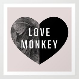 Love Monkey Art Print