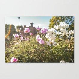 Flower house garden Canvas Print