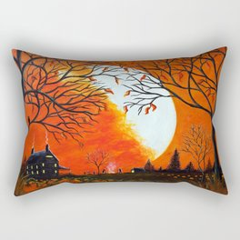 """Burning Leaves"" Autumn/fall art Rectangular Pillow"