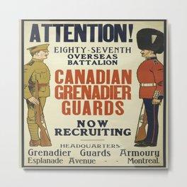 Vintage poster - Canadian Grenadier Guards Metal Print