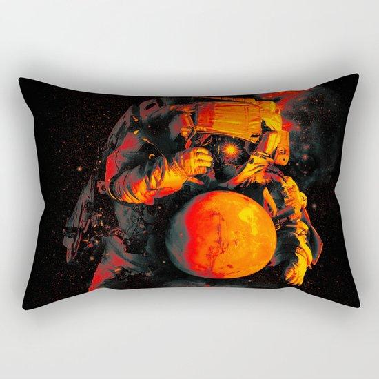 It's a Small Worls After All (Mars) Rectangular Pillow