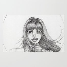 JennyMannoArt Graphite Drawing/Abbey Rug