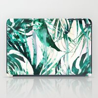 paradise iPad Cases featuring Green Tropical paradise  by Nikkistrange