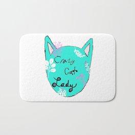Crazy Cat Lady - Teal Bath Mat