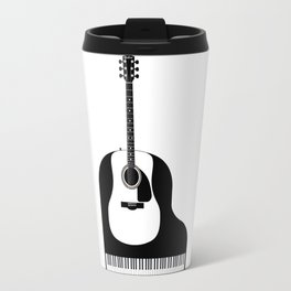 Piano and Guitar Travel Mug