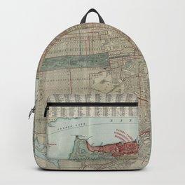 Vintage Map of San Francisco CA (1914) Backpack