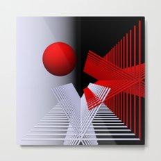 experiments on geometry -6- Metal Print