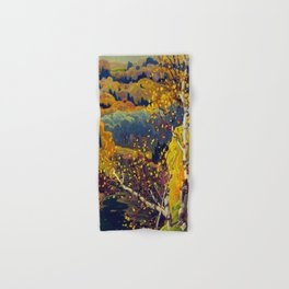 Franklin Carmichael Canadian artist Art Nouveau Post-Impressionism October Gold Hand & Bath Towel