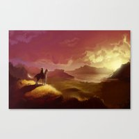 hyrule Canvas Prints featuring Hyrule by Attyca